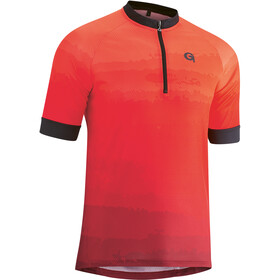 Gonso Pilone Half-Zip SS Bike Jersey Men, high risk red